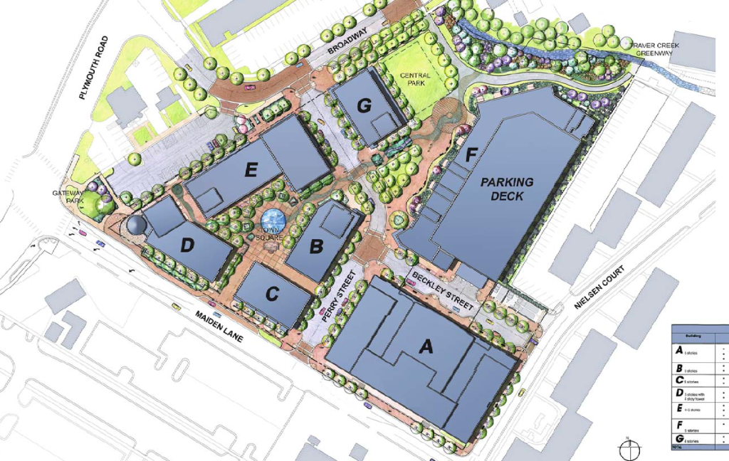 broadway village site plan